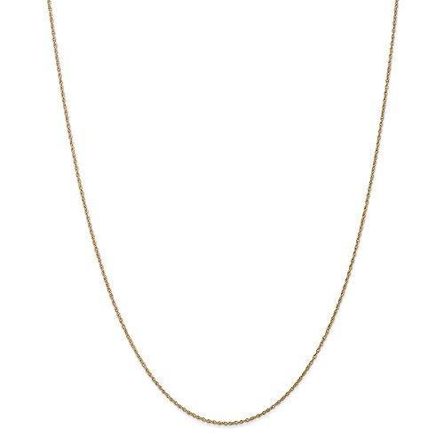 Diamond2deal Oro giallo 14K .8millimetri light-baby corda catena 76,2cm