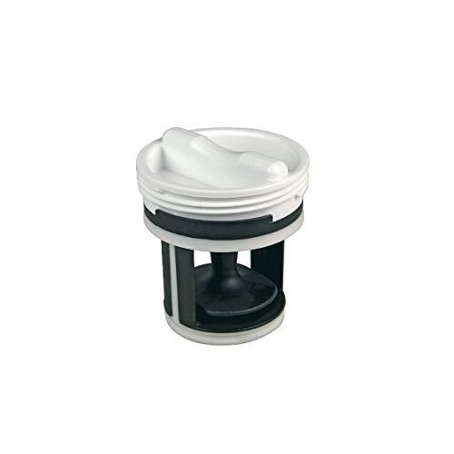 ORIGINAL Candy Hoover 41021233 Flusensiebeinsatz Sieb Flusensieb Pumpenfilter Filter gerade Form Kunststoff weiß Waschmaschine