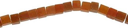Creative-Beads Edelstein Perlen Aventurin rot Würfel 6mm, Strang c. 40cm/60-65St.., zum selber machen von Schmuck, Deko & basteln