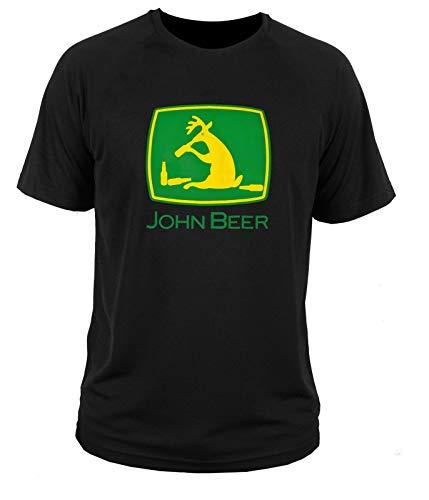 AN Men T-Shirt John Beer Tractor Deere