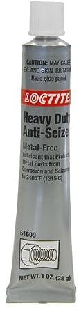 Loctite 51609 Gray LB 8009 Heavy Duty Anti-Seize Lubricant, -20 Degree F Lower Temperature Rating to 2400 Degree F Upper Temperature Rating, 1 fl. oz. Tube: image