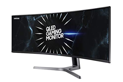 SAMSUNG 49u0022 Class Wide Screen QLED Gaming Quantum Dot (5120x1440) Monitor - LC49RG90SSNX/ZA
