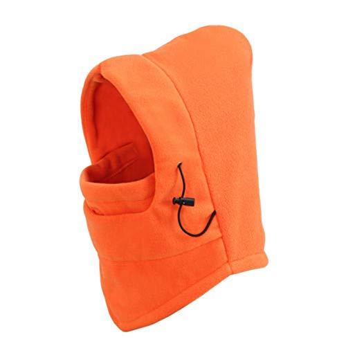 LanLan Balaclava voor skiën en snowboarden, skibril, bivakmuts voor de wintersport, oranje one size