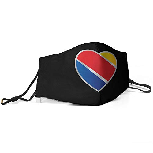 Kens Southwest-Airlines- Women Men Adjustable Earloops Reusable Face Mouth Cover for Aduit