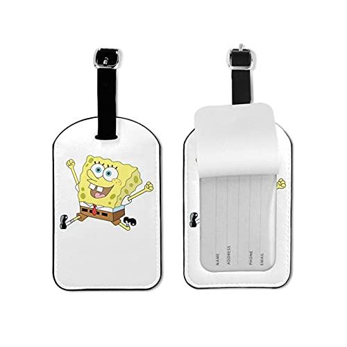 Sp-Onge Bob - Etiquetas para equipaje (2,7 x 4,3 pulgadas)
