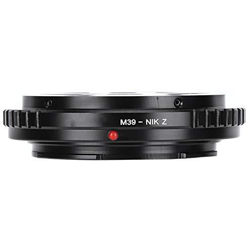 Bindpo Anillo Adaptador de Lente, Adaptador de Montaje de Lente Manual Completo Anillo Adaptador de Lente de cámara de aleación de Aluminio para Zenit M39 para Nikon Z6/Z7