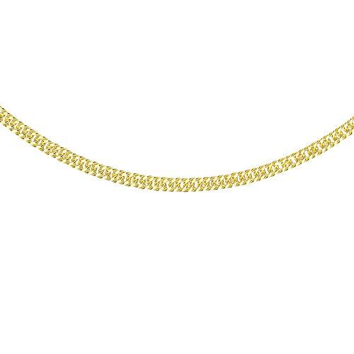 Carissima Gold - Collar de cadena de oro amarillo de 9 quilates para mujer, longitud de 41 cm