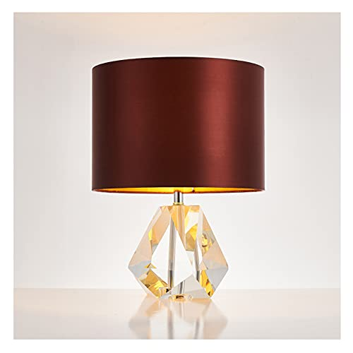 Lampara Mesilla K9 Lámpara de mesa de cristal posmoderno Americano Creativo Diamante...
