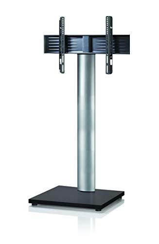 VCM Support TV, Stand Onu Mini, Aluminium, Laqué Noir, 130x68x54 cm