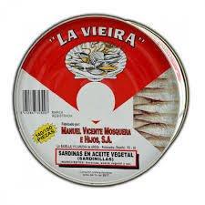 Sardinillas en aceite 140/150 piezas 1,150kg La Vieira