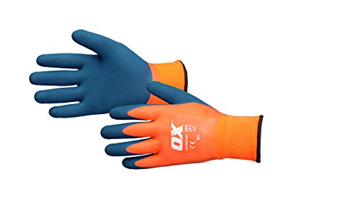 OX ox-s483910Wasserdicht Thermo-Latex Handschuh, Größe 10, orange/blau/X-Large