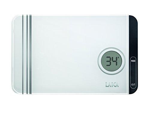 Laica KS1301 Bilancia da Cucina Elettronica, Vetro Temperato con Finitura Specchiata , Tasti Touch Sensor, 5 kg