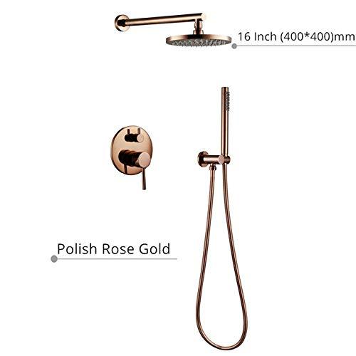 Amazing Deal Shower Head Shower set Bathroom Bath Matt Black Rose Rain fall Faucet Diverter Mixer Ta...