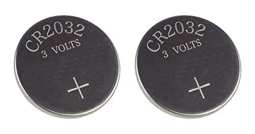 Techtastic® 2x CR2032 Schlüssel Autobatterien 2032 / Alarm fob Batterien der Fernbedienung