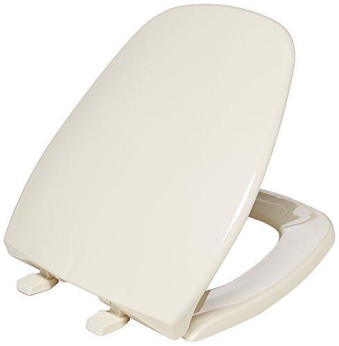 BEMIS 1240200 036 Eljer Emblem Plastic Toilet Seat, ROUND, Natural