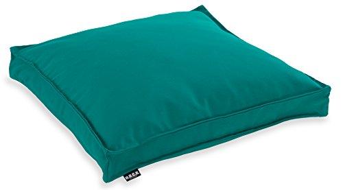 H.O.C.K. Classic Uni Outdoor Sitzkissen Stuhlkissen für drinnen und draußen aus 100% Polyacryl(dralon (50x50x5cm, Petrol)