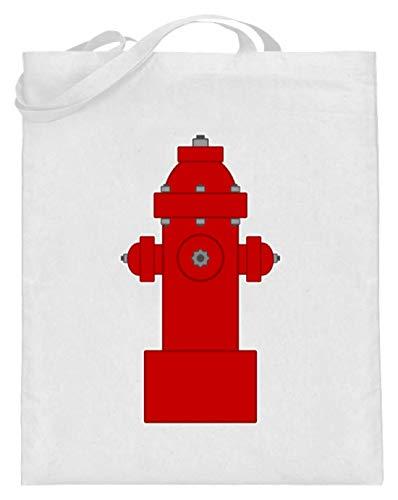 SPIRITSHIRTSHOP - Grifo de bombero, bombero, agua, chorros de agua, trabajo, trabajo de ensueño, bolsa de yute (con asas largas), color Blanco, talla 38cm-42cm
