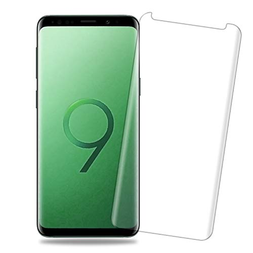 2 Pack Galaxy S9 Clear Screen Protector - [Curved Edge][Case Friendly] Anti-Scratch Bubble-Free Tempered Glass Film Compatible with Samsung Galaxy S9