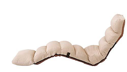 SFGH Multifuncional Lazy Couch Foldable Single Recliner Cómodo Sofá pequeño Dormitorio Silla de Respaldo de Ventana de Bahía 53 × 171cm (Color : Light Brown)