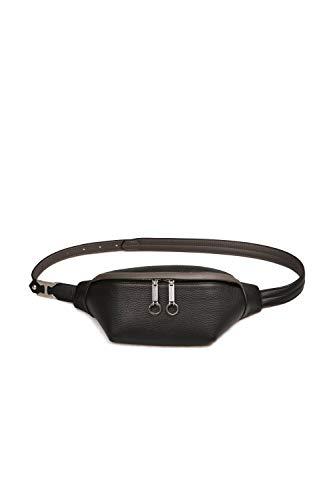 Hender Scheme Genuine Leather Chest Bag Backpack Crossbody Bags Sling Bag Shoulder Backpack for Men (Black) (One_Size, Black)