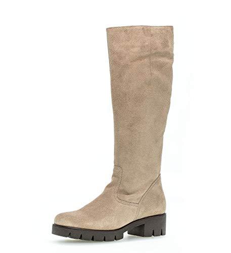 Gabor Damen Plateau Stiefel, Frauen Stiefel,Wechselfußbett,Best Fitting, Boots lederstiefel langschaftstiefel,Desert,35.5 EU / 3 UK