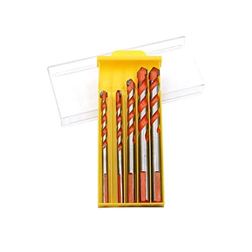 Carburo 5 unids/set 6/8/10/12mm juego de brocas triangulares para azulejos de cerámica, abridor de agujeros de hormigón de cerámica, herramienta eléctrica naranja