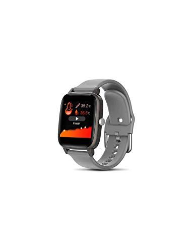 Roneberg RT98 - Reloj inteligente deportivo (activo, contador de calorías, podómetro, IP67), color gris
