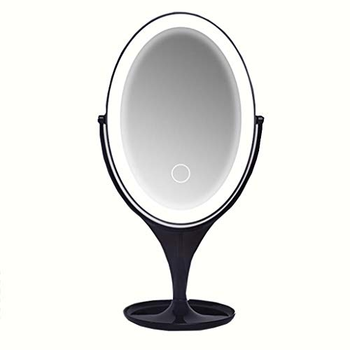Specchio da Trucco, Condizionatore di Ricarica USB Portatile LED Smart Touch da Tavolo con Luce di riempimento a Singolo Lato