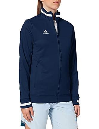 adidas T19 TRK JKT W Chaqueta de Deporte, Mujer, Team Navy Blue/White, M