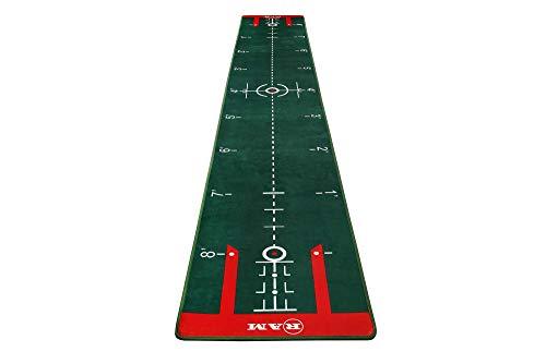 Ram Golf PROFESSIONAL Dual Grain Putting Mat with Distance...