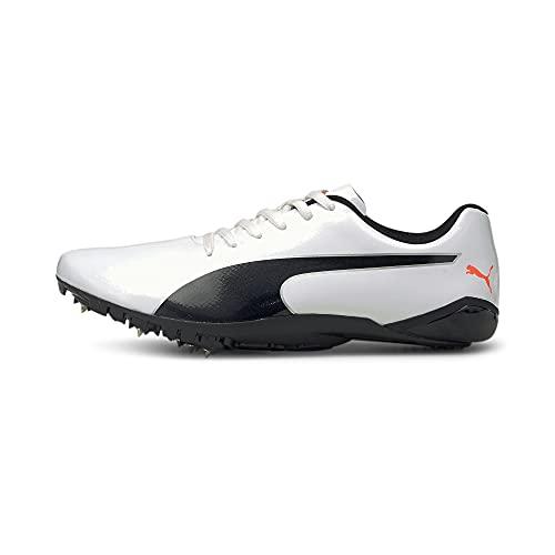 PUMA Evospeed Prep Sprint 2, Zapatillas de Atletismo Hombre, Blanco Negro Lava Blast, 40.5 EU