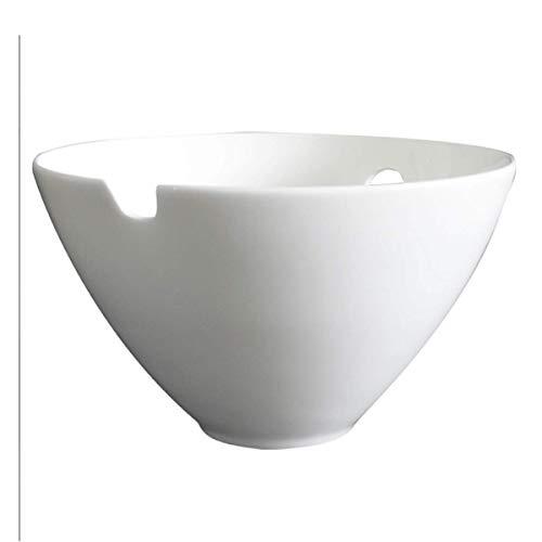 MIEMIE Porzellan Reisschale weiß aus Bone China ideal für Reissalat EIS Snacks Saucen 21 x 10,5 cm 2000ml