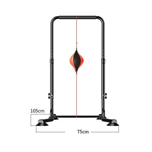 ZAIHW Indoor Reck mit Boxen, Pull-up-Rahmen Single Polen Sport/Saugnäpfe justierbar/Bauen Absolute Stärke for niedrigen Wiederholungszahl oder Kraftausdauer for höhere rep (Size : L)