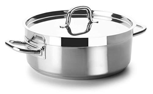 Lacor - 54050 - Cacerola Con Tapa Chef Luxe 50 Cm Inox