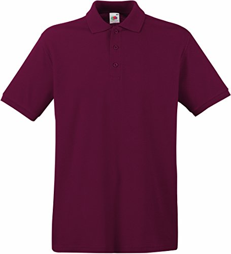 Fruit of the Loom Premium Poloshirt 63-218-0,Farbe:Burgundy;Größe:XL
