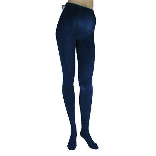 BOKATEX Schwangerschafts-Strumpfhose 80% Baumwolle mit hohem Bund Warm 250 DEN Damen Blau S (55-65 Kg//160-170 cm)