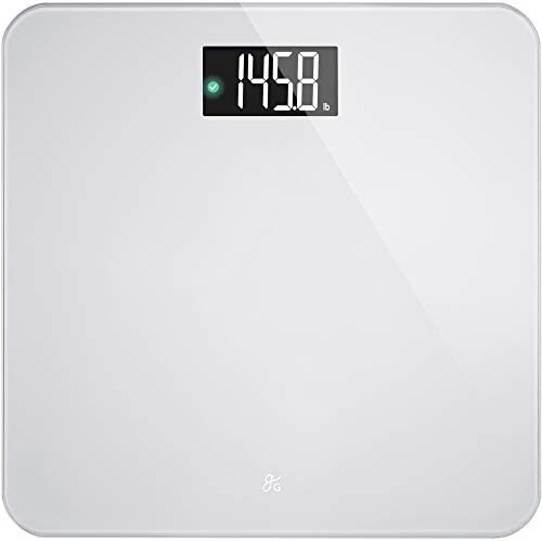 AccuCheck Digital Body Weight Scale from Greater Goods Patent Pending Technology Silver Glass product image