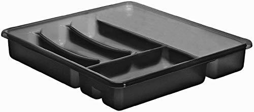 Rotho Basic Besteckkasten mit 6 Fächern, Kunststoff (PP) BPA-frei, anthrazit, (39,0 x 32,0 x 6,0 cm)