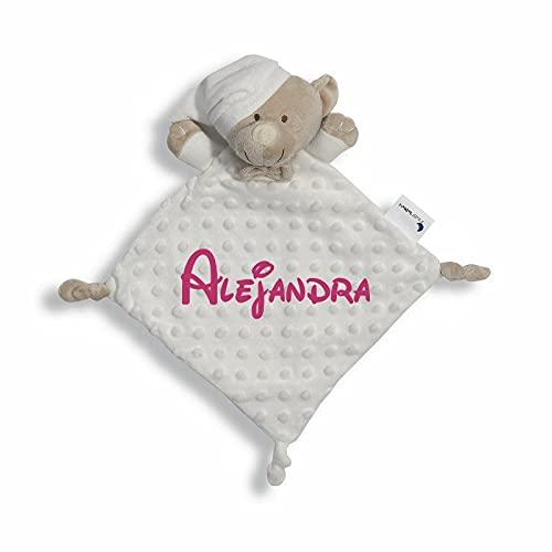 Danielstore- Dou Dou Atrapasueños Bebé Bordado Personalizado Regalo para Baby Shower ((Dou dou)