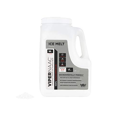 Salt Depot Inc Noncorrosive Eco and Pet Safe Snow and Ice Melt: ViperNAAC Pellets, Safe on New Concrete, Chloride Free, Easy to use 10LB Shaker Jug
