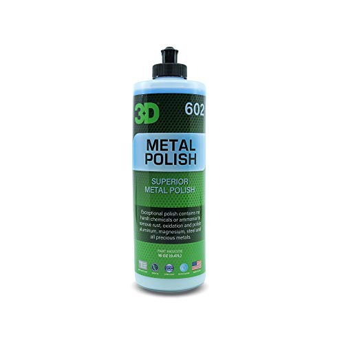 3D Metal Polish - Heavy Duty All Purpose Metal Polish & Aluminum Restorer, Cleaner & Protectant of Dull, Oxidized & Tarnished Metal, Diamond Plates, Brass, Silver, Chrome, Gold, and Copper 16oz.