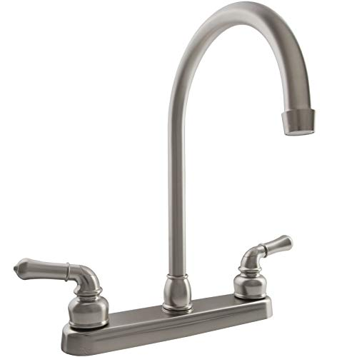 Dura Faucet DF-PK330HC-SN RV J-Spout Kitchen Faucet (Brushed Satin Nickel)