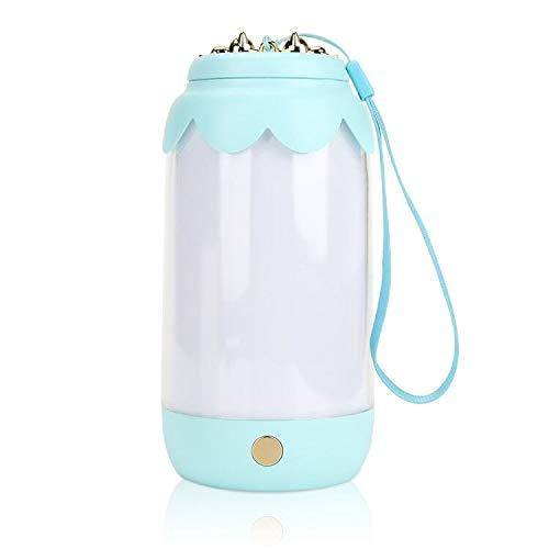 Luce Notturna LED, Maxjaa USB Protezione per gli occhi ricaricabile Luce notturna dimmerabile, Lampada per atmosfera portatile con cordino per bambini, camera da letto, desktop, campeggio (blu)