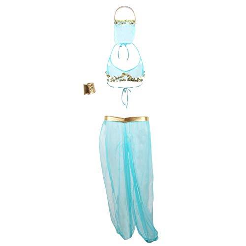 Preisvergleich Produktbild Clothing Sexy Outfits for Frauen reizvolle Wäsche-Masked Mädchen Masked Bauchtanz-Kostüm (Color : Blue,  Size : Free)