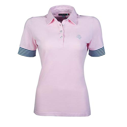 HKM 11374 Lauria Garrelli Poloshirt Elemento, Reitshirt Damenshirt, Hellrosa, XXL
