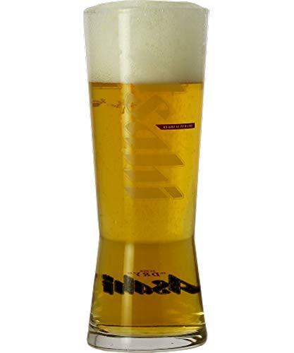 Asahi Half Pint Glas 10 Unzen 285 ml, 6 Stück, Werbung für Asahi Bier Bierglas/Pilsglas