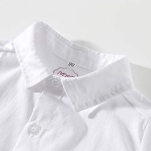 PinkLu Conjunto Niño Cómodo Color sólido Camisa bebé Manga ...