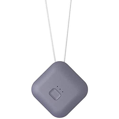 QUWN-Persoonlijke Luchtreiniger Ketting Draagbare Draagbare Luchtreiniger USB Opladen Tweedehands Rook Geur en Stof Verwijderen, Grijs