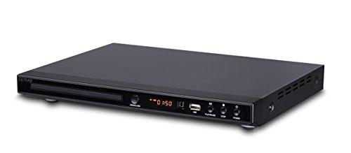 Denver Electronics DVH-1245 Reproductor de DVD, Dispone de HDMI, resolución 1080p (1920x1080) Entrada USB, Reproductor Multimedia, scart, Único