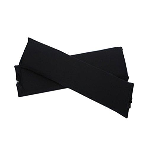 Sharplace 2 Stk. Elastische Armauflage, Armlehnen Polster, Ellenbogen Kissen für Drehstuhl Bürostuhl - Schwarz